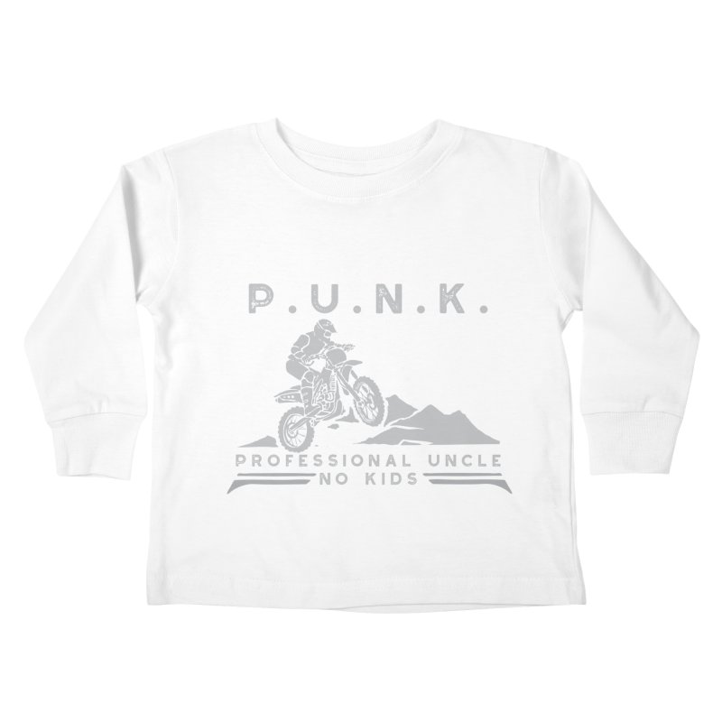 Punk Professional Uncle No Kids Dirtbike Graphic Tee Kids Toddler Longsleeve T-Shirt by Awkward Design Co. Artist Shop