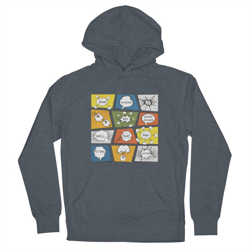 Reading Is My Superpower, Well, That and Flying Graphic Novel Design Women's Pullover Hoody by Awkward Design Co. Artist Shop