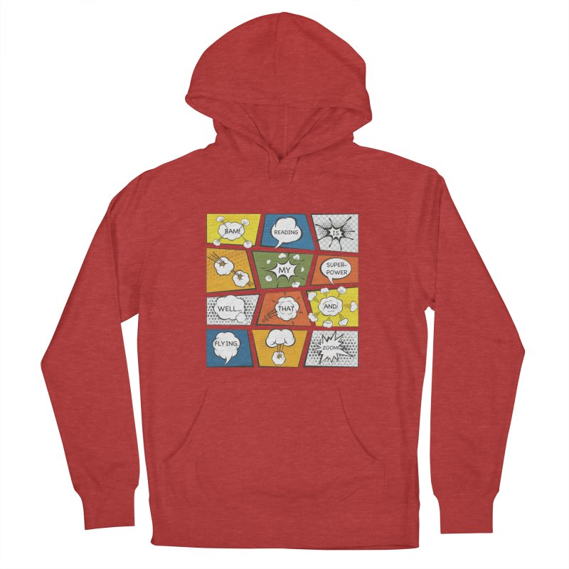 Reading Is My Superpower, Well, That and Flying Graphic Novel Design Men's Pullover Hoody by Awkward Design Co. Artist Shop