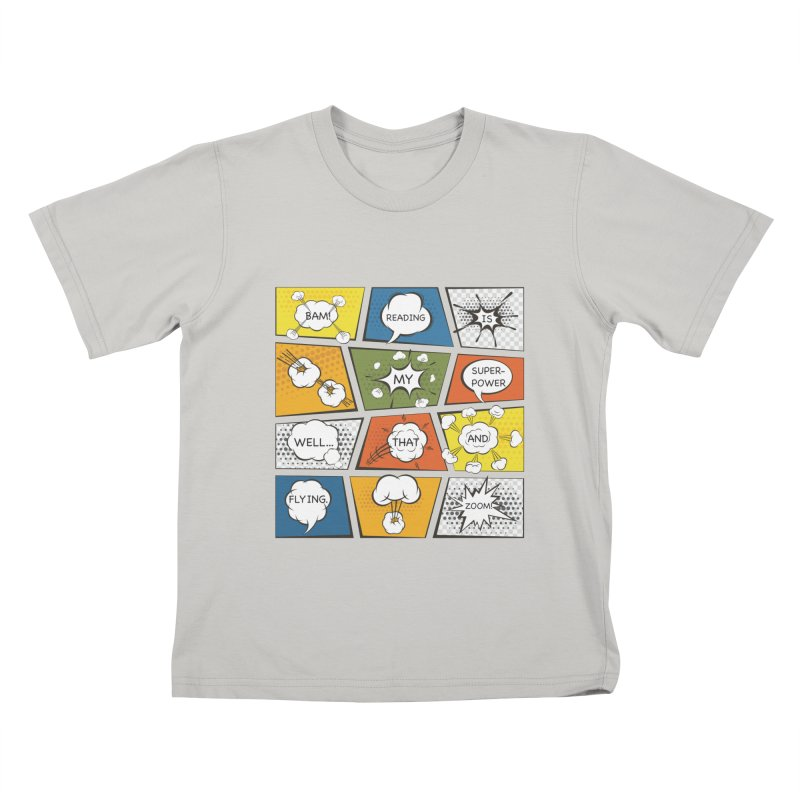 Reading Is My Superpower, Well, That and Flying Graphic Novel Design Kids T-Shirt by Awkward Design Co. Artist Shop