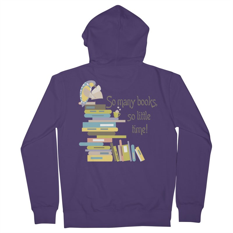 So Many Books So Little Time Bibliophile Bird Reading  Women's Zip-Up Hoody by Awkward Design Co. Artist Shop