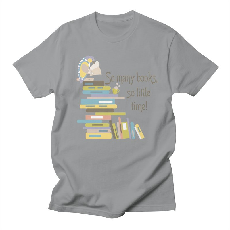 So Many Books So Little Time Bibliophile Bird Reading  Women's Unisex T-Shirt by Awkward Design Co. Artist Shop