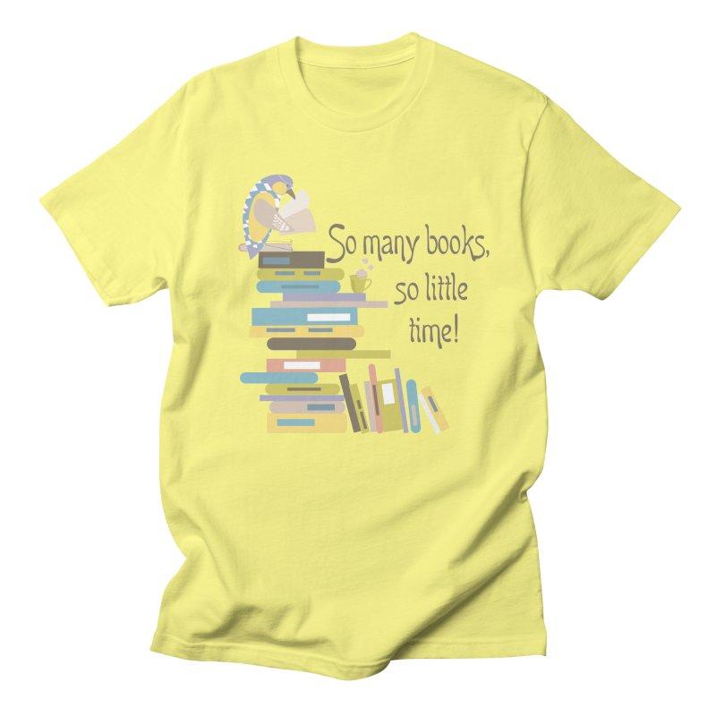 So Many Books So Little Time Bibliophile Bird Reading  Women's Unisex T-Shirt by Awkward Design Co. Artist Shop