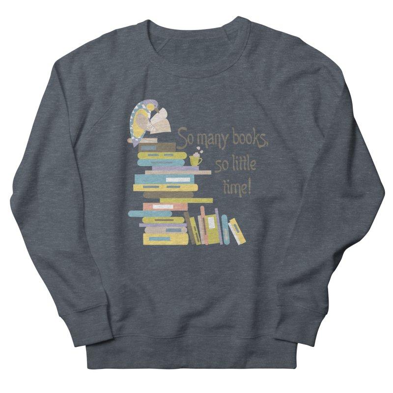 So Many Books So Little Time Bibliophile Bird Reading  Women's Sweatshirt by Awkward Design Co. Artist Shop