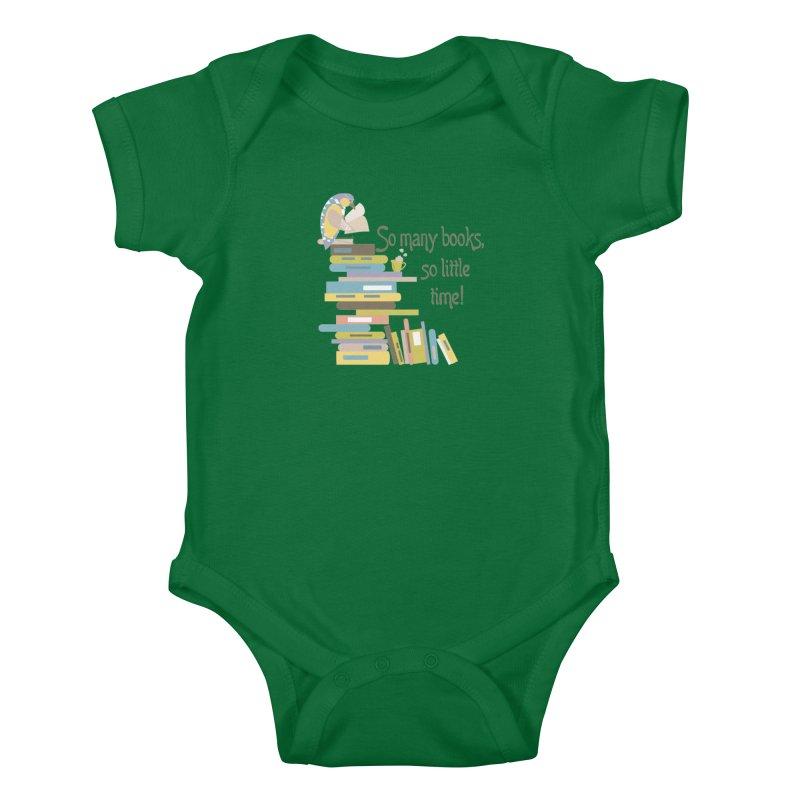 So Many Books So Little Time Bibliophile Bird Reading  Kids Baby Bodysuit by Awkward Design Co. Artist Shop