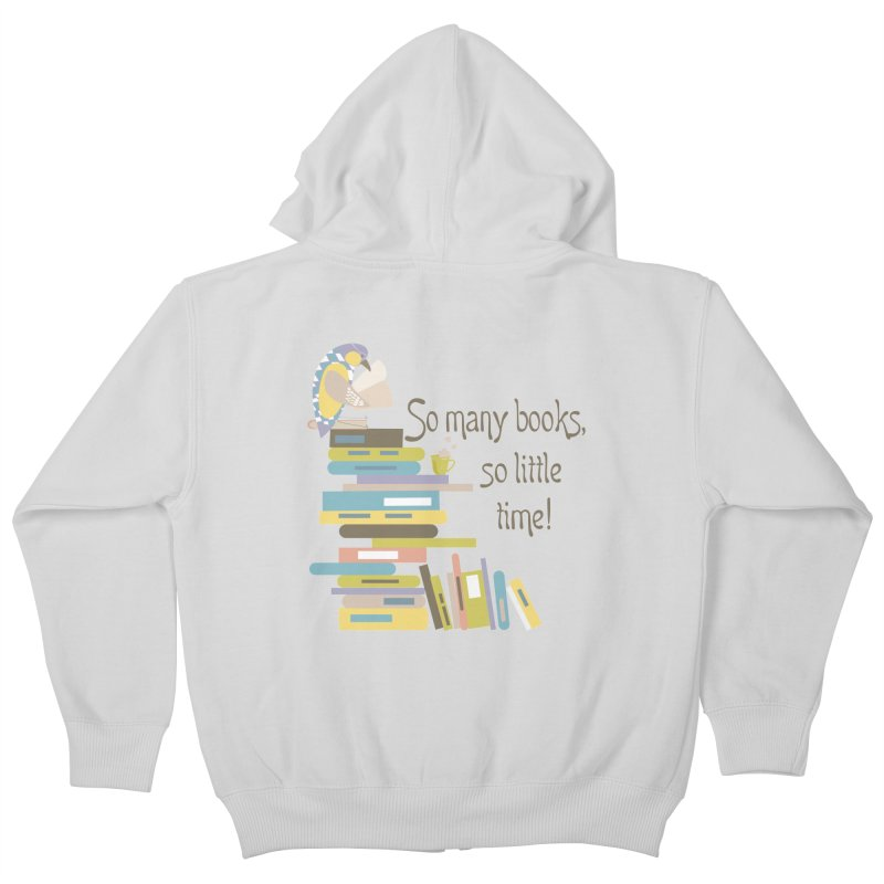 So Many Books So Little Time Bibliophile Bird Reading  Kids Zip-Up Hoody by Awkward Design Co. Artist Shop