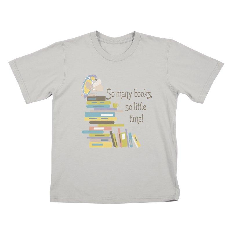 So Many Books So Little Time Bibliophile Bird Reading  Kids T-shirt by Awkward Design Co. Artist Shop