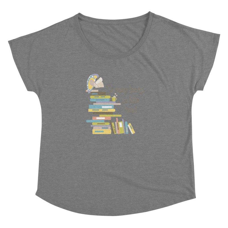 So Many Books So Little Time Bibliophile Bird Reading  Women's Dolman by Awkward Design Co. Artist Shop