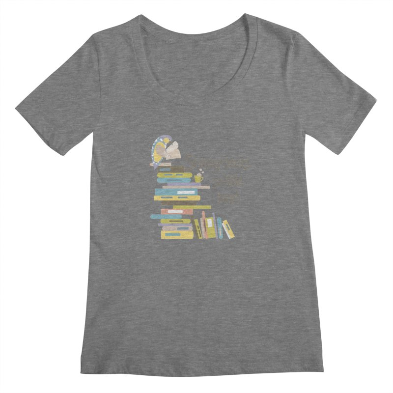 So Many Books So Little Time Bibliophile Bird Reading  Women's Scoopneck by Awkward Design Co. Artist Shop