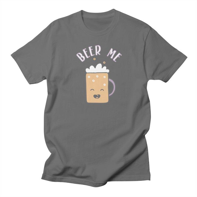 Beer Me Cute Beer Stein in Men's T-shirt Asphalt by Awkward Design Co. Artist Shop