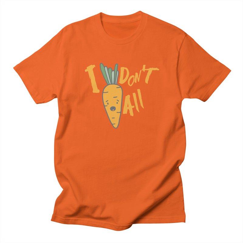 I Don't Carrot All in Men's T-shirt Orange Poppy by Awkward Design Co. Artist Shop