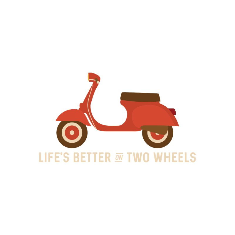 Life's Better on Two Wheels for Scooter Owners Men's Pullover Hoody by Awkward Design Co. Artist Shop