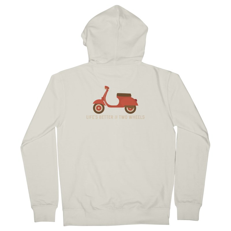 Life's Better on Two Wheels for Scooter Owners Men's Zip-Up Hoody by Awkward Design Co. Artist Shop