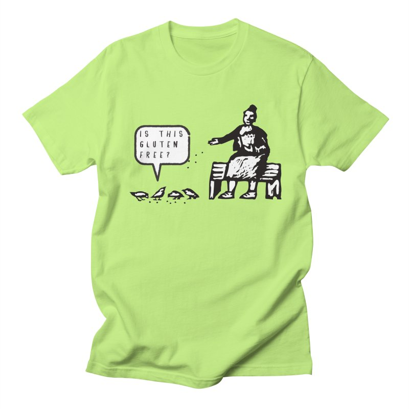 Is This Gluten Free Bird with Celiac Disease in Men's T-shirt Neon Green by Awkward Design Co. Artist Shop