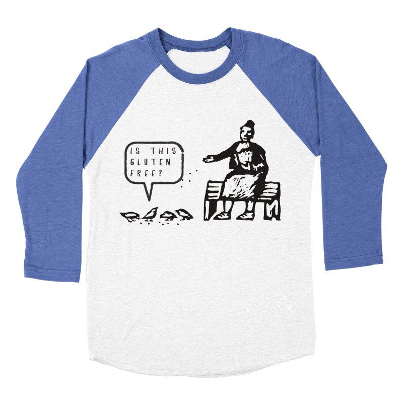 Is This Gluten Free Bird with Celiac Disease Men's Baseball Triblend T-Shirt by Awkward Design Co. Artist Shop