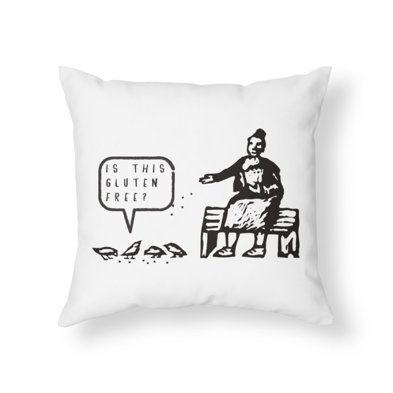 Is This Gluten Free Bird with Celiac Disease Home Throw Pillow by Awkward Design Co. Artist Shop