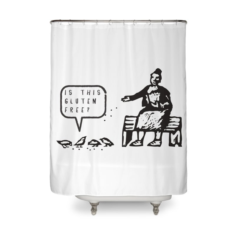 Is This Gluten Free Bird with Celiac Disease Home Shower Curtain by Awkward Design Co. Artist Shop