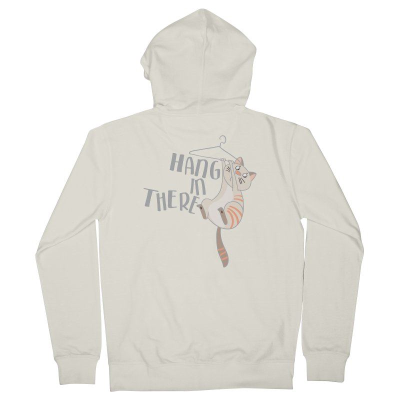 Hang In There Men's Zip-Up Hoody by Awkward Design Co. Artist Shop