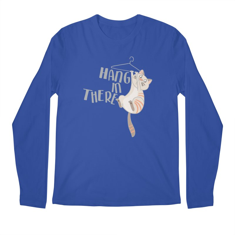 Hang In There Men's Longsleeve T-Shirt by Awkward Design Co. Artist Shop