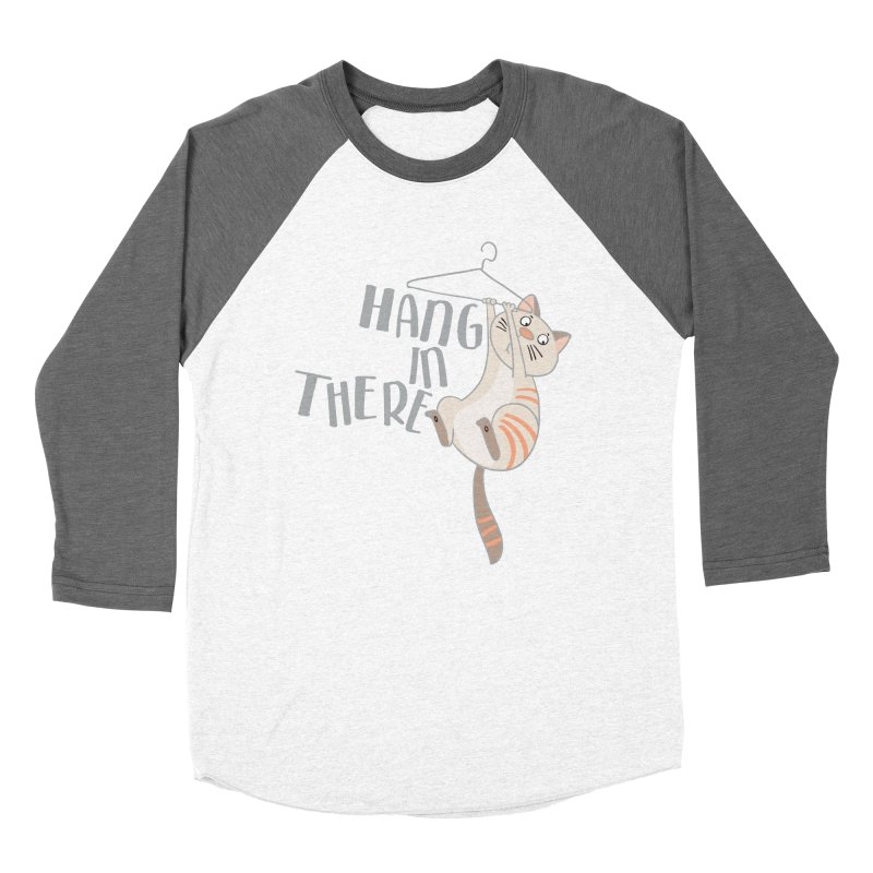Hang In There Men's Baseball Triblend T-Shirt by Awkward Design Co. Artist Shop