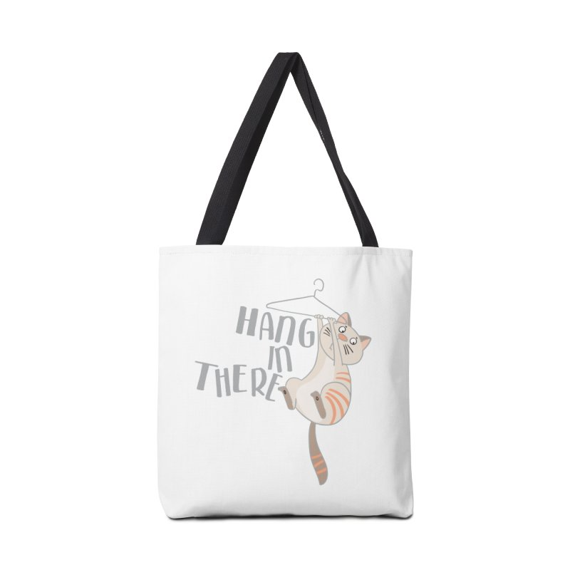 Hang In There Accessories Bag by Awkward Design Co. Artist Shop