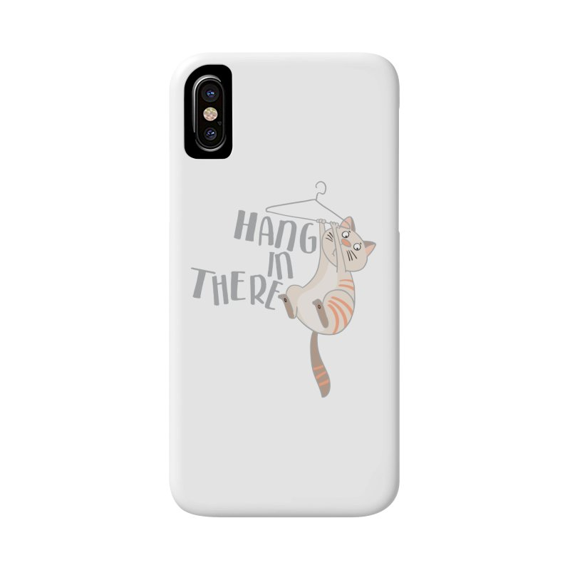 Hang In There Accessories Phone Case by Awkward Design Co. Artist Shop
