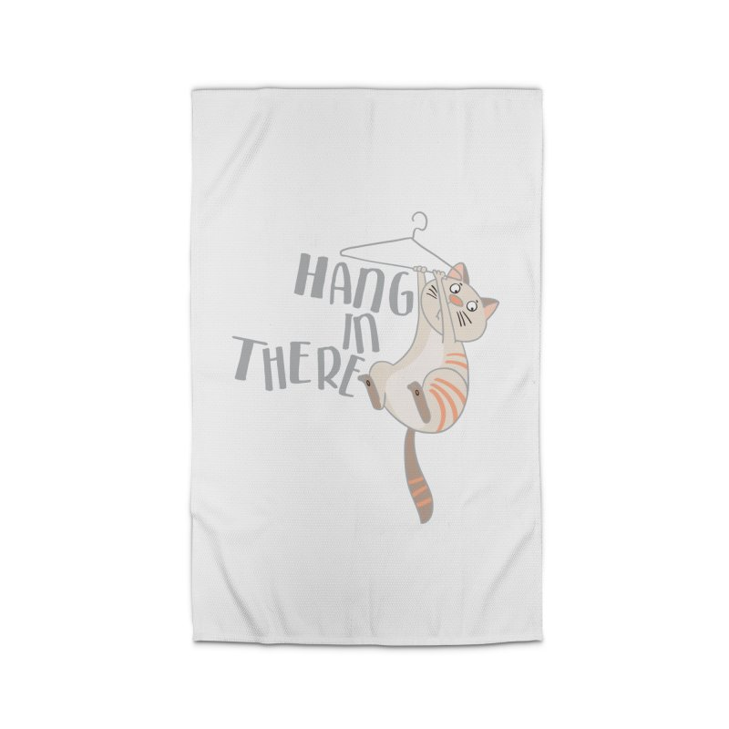 Hang In There Home Rug by Awkward Design Co. Artist Shop
