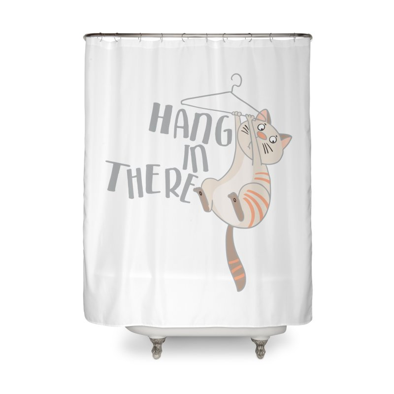 Hang In There Home Shower Curtain by Awkward Design Co. Artist Shop