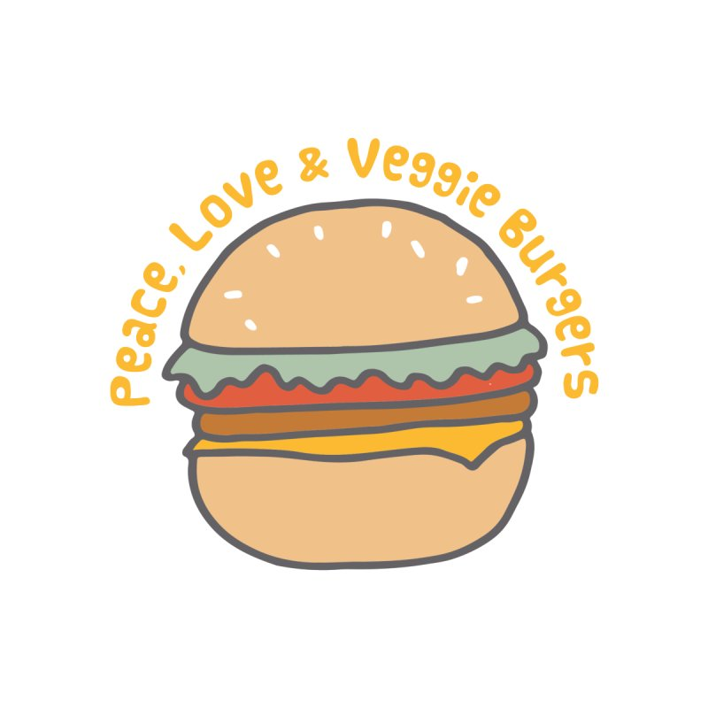 Peace, Love & Veggie Burgers Men's T-shirt by Awkward Design Co. Artist Shop