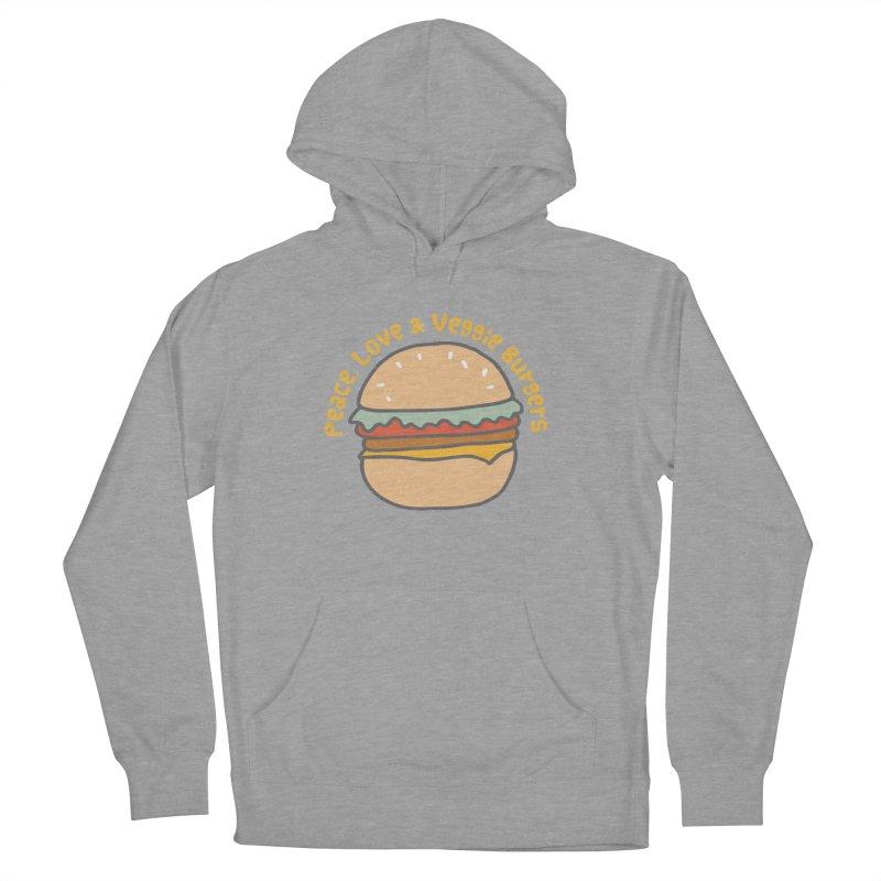 Peace, Love & Veggie Burgers Men's Pullover Hoody by Awkward Design Co. Artist Shop