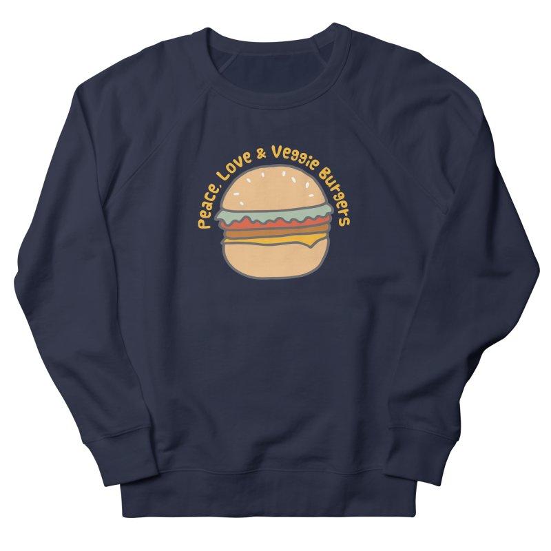 Peace, Love & Veggie Burgers Men's Sweatshirt by Awkward Design Co. Artist Shop