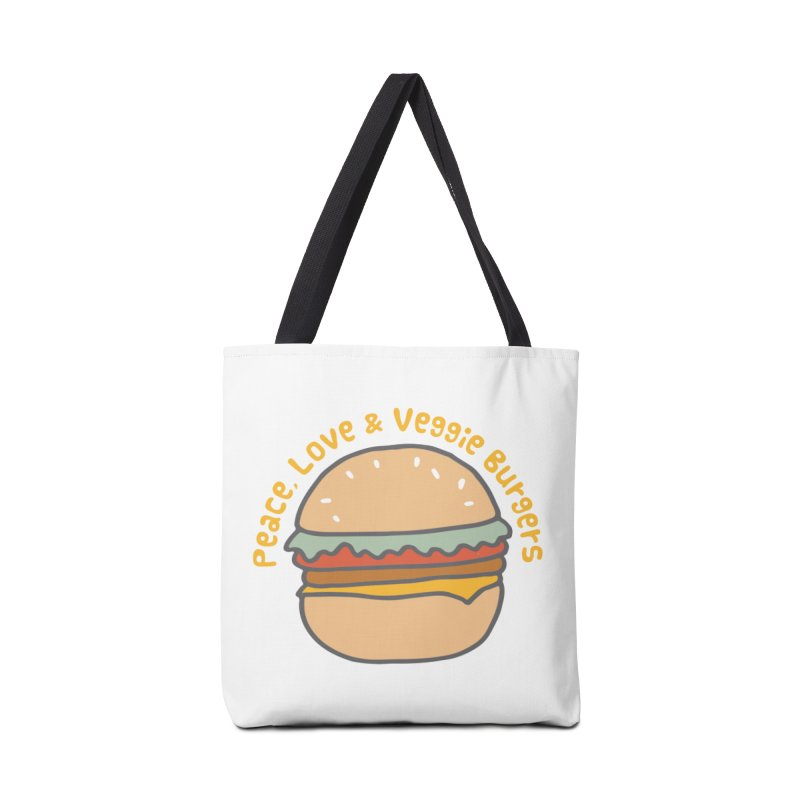Peace, Love & Veggie Burgers Accessories Bag by Awkward Design Co. Artist Shop