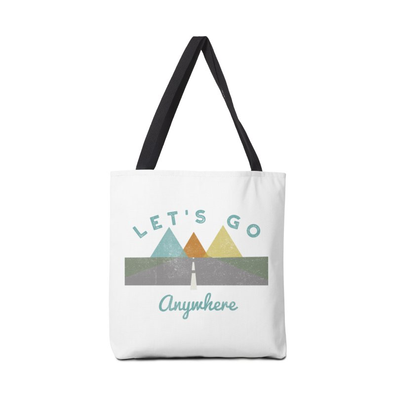 Let's Go Anywhere Mountains Road Trip Accessories Bag by Awkward Design Co. Artist Shop