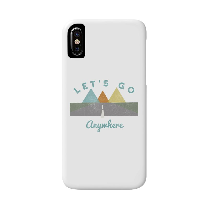 Let's Go Anywhere Mountains Road Trip Accessories Phone Case by Awkward Design Co. Artist Shop