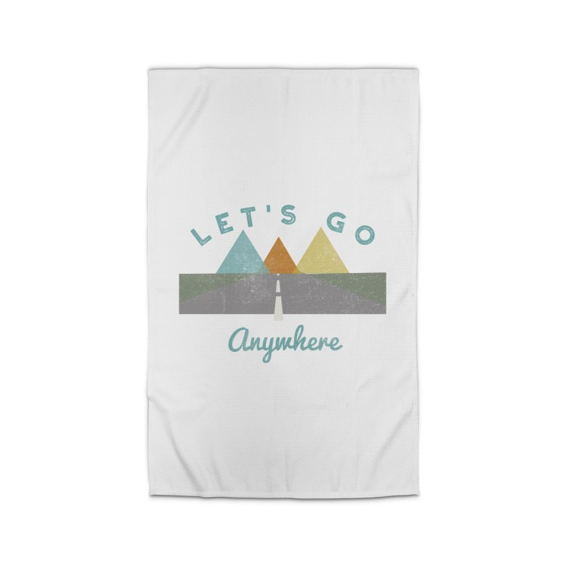 Let's Go Anywhere Mountains Road Trip Home Rug by Awkward Design Co. Artist Shop