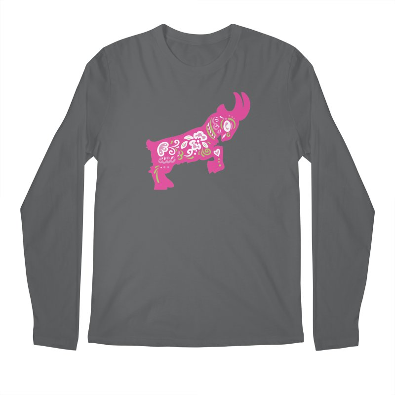 Pretty in Pink Pygmy Goat Men's Longsleeve T-Shirt by Awkward Design Co. Artist Shop