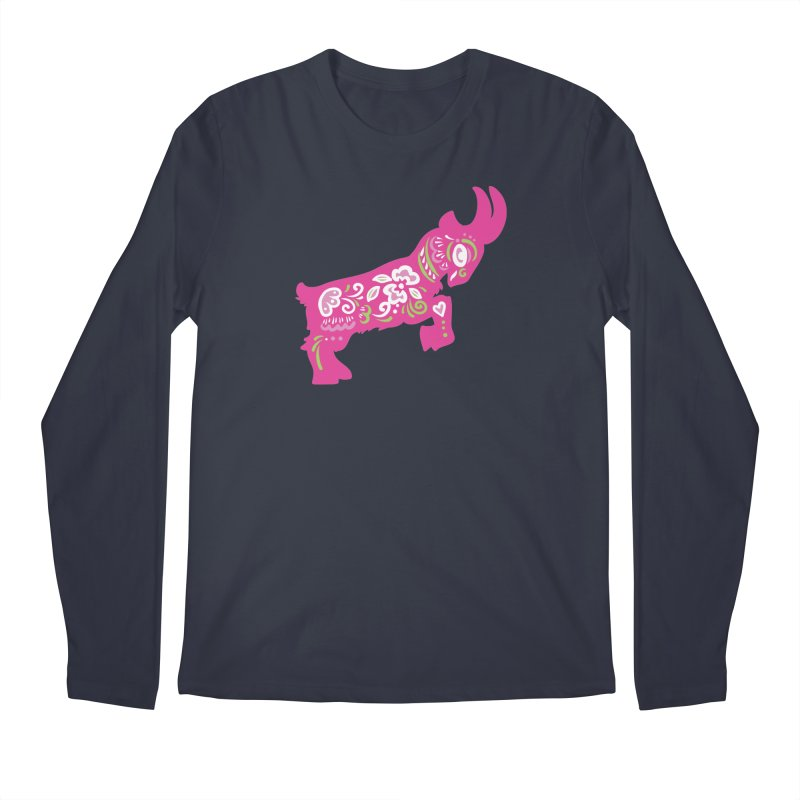 Pretty in Pink Pygmy Goat Men's Longsleeve T-Shirt by Awkward Design Co. Artist Shop