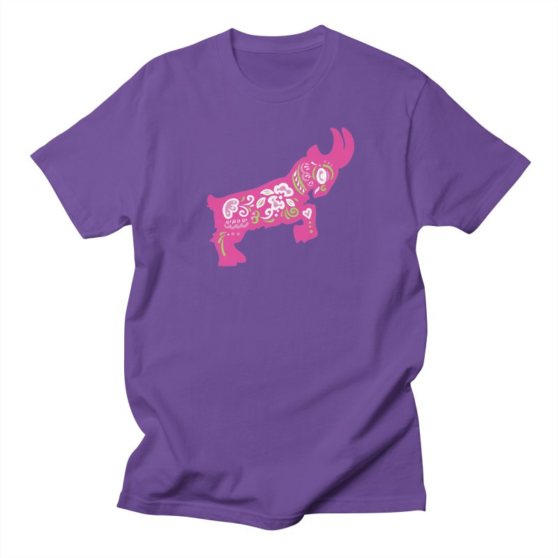 Pretty in Pink Pygmy Goat Men's T-Shirt by Awkward Design Co. Artist Shop