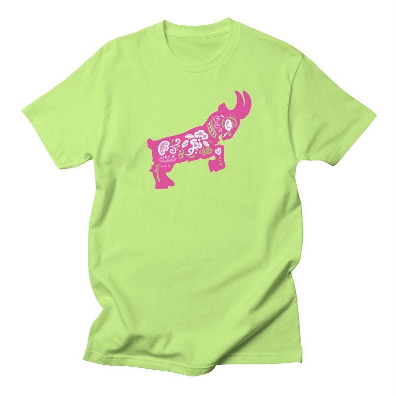 Pretty in Pink Pygmy Goat Men's T-Shirt by Awkward Design Co. Artist Shop