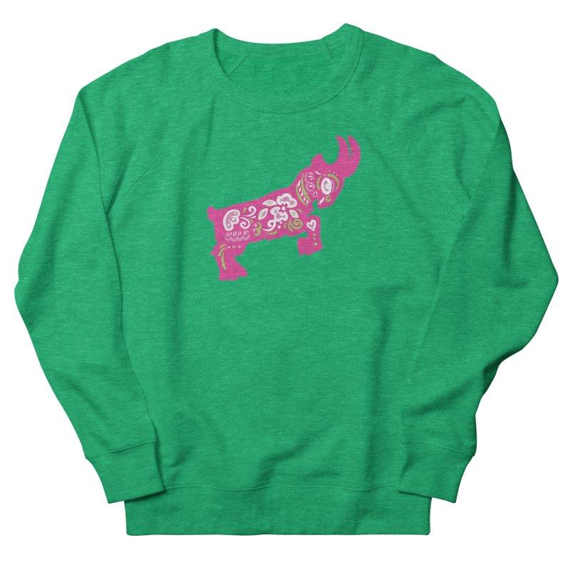 Pretty in Pink Pygmy Goat Men's Sweatshirt by Awkward Design Co. Artist Shop