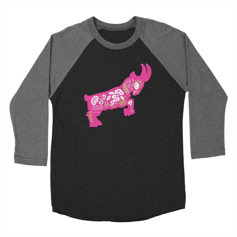 Pretty in Pink Pygmy Goat Men's Baseball Triblend T-Shirt by Awkward Design Co. Artist Shop