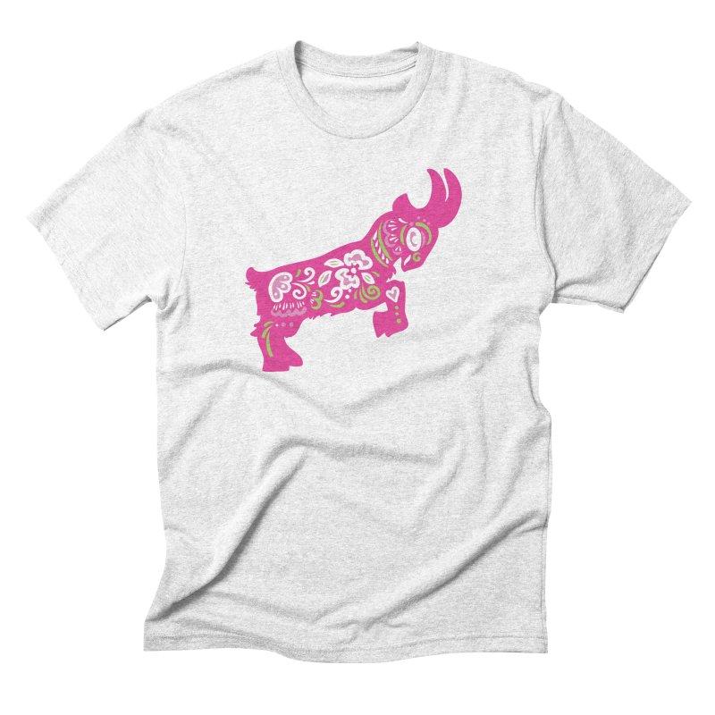 Pretty in Pink Pygmy Goat Men's Triblend T-shirt by Awkward Design Co. Artist Shop