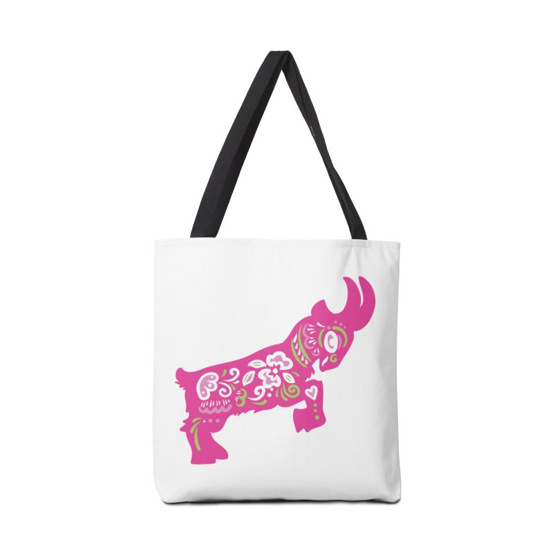 Pretty in Pink Pygmy Goat Accessories Bag by Awkward Design Co. Artist Shop