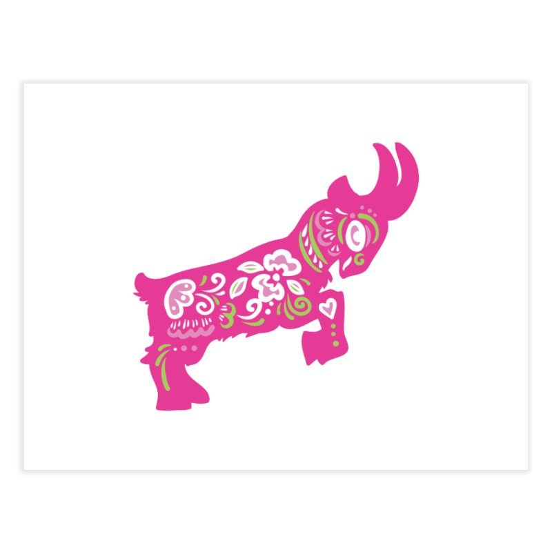 Pretty in Pink Pygmy Goat Home Fine Art Print by Awkward Design Co. Artist Shop