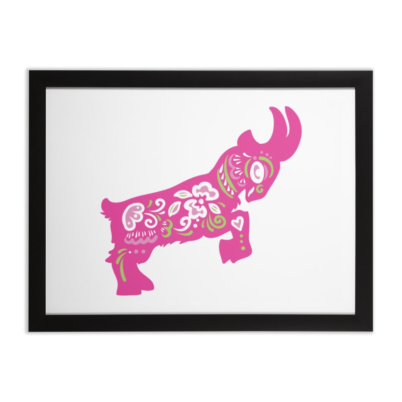Pretty in Pink Pygmy Goat Home Framed Fine Art Print by Awkward Design Co. Artist Shop