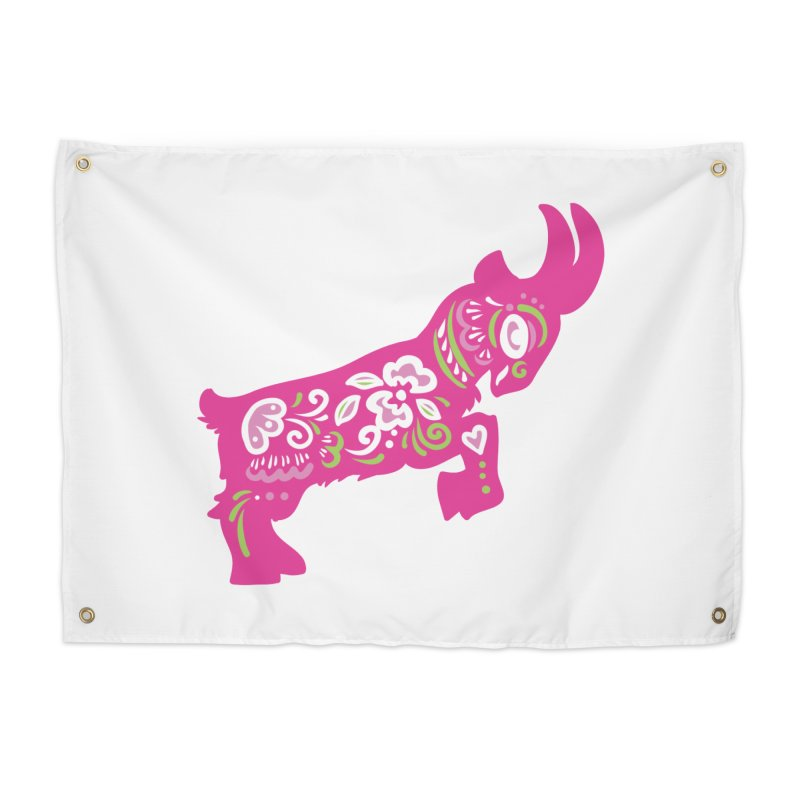 Pretty in Pink Pygmy Goat Home Tapestry by Awkward Design Co. Artist Shop