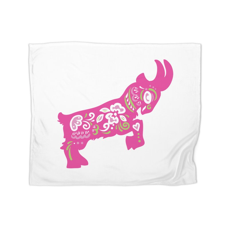 Pretty in Pink Pygmy Goat Home Blanket by Awkward Design Co. Artist Shop