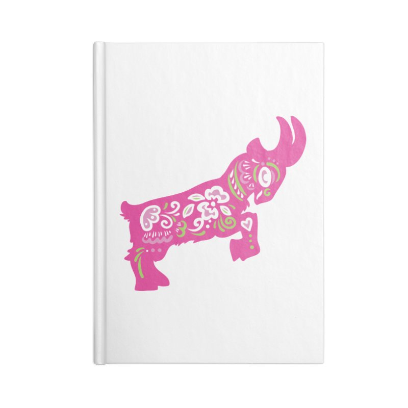 Pretty in Pink Pygmy Goat Accessories Notebook by Awkward Design Co. Artist Shop