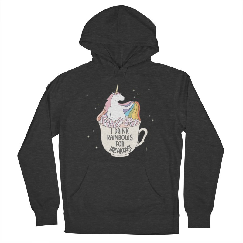 I Drink Rainbows for Breakfast Unicorn Men's Pullover Hoody by Awkward Design Co. Artist Shop
