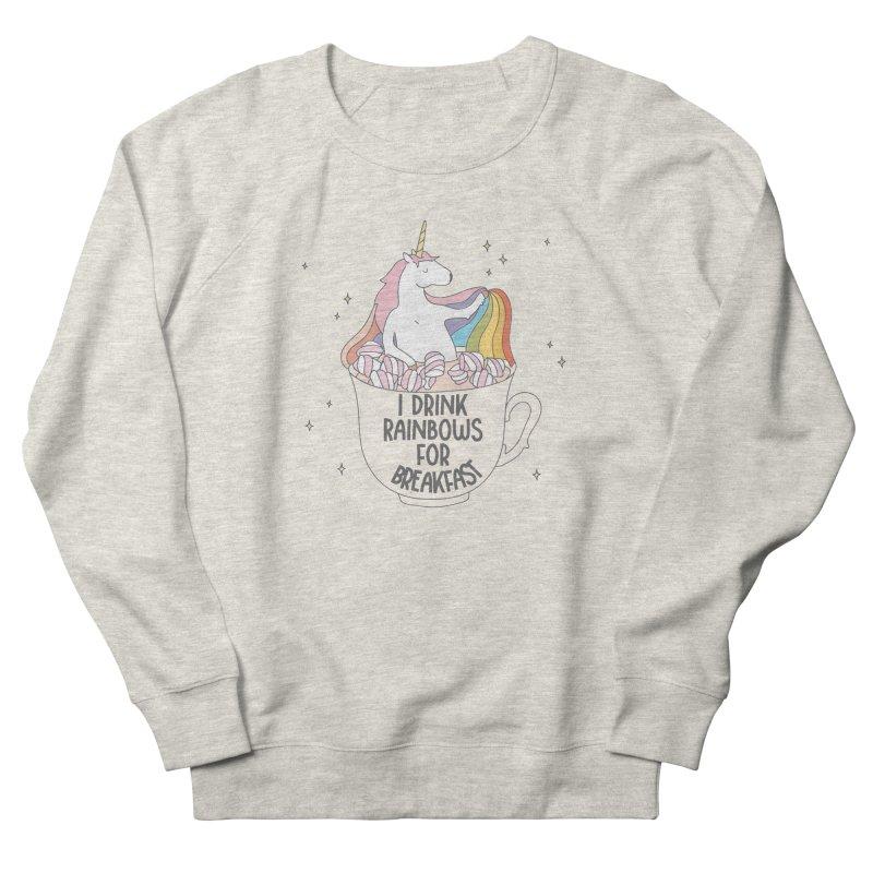 I Drink Rainbows for Breakfast Unicorn Men's Sweatshirt by Awkward Design Co. Artist Shop